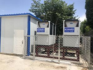 2800平方米某校空气能设备安装